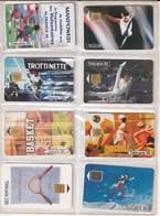 8 Télécartes Publiques France. Sports. Illustrées. Toutes Différentes. Etat Moyen. - Sport