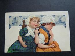 Enfant ( 4194 )   Kind  Carte Gaufrée   Reliëf - Enfants