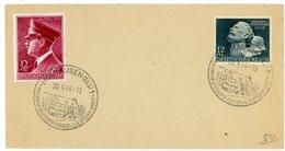 ALLEMAGNE BAS RHIN ENV 1944 MULHAUSEN TIMBRE A SURTAXE - Storia Postale