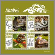 SIERRA LEONE 2019 MNH Snakes Schlangen Serpents M/S - OFFICIAL ISSUE - DH1948 - Serpents