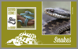 SIERRA LEONE 2019 MNH Snakes Schlangen Serpents S/S - IMPERFORATED - DH1948 - Serpents