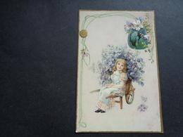 Enfant ( 4203 )   Kind  Carte Gaufrée   Reliëf - Enfants