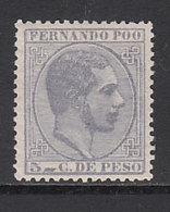 Fernando Poo Sueltos 1882 Edifil 7 * Mh - Fernando Po