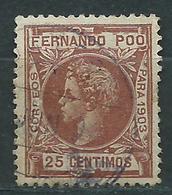 Fernando Poo Sueltos 1903 Edifil 127 O - Fernando Po