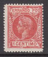 Fernando Poo Sueltos 1903 Edifil 120 * Mh - Fernando Po