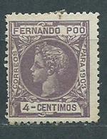 Fernando Poo Sueltos 1903 Edifil 123 O - Fernando Po