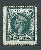 Fernando Poo Sueltos 1903 Edifil 121 ** Mnh  Bonito - Fernando Po