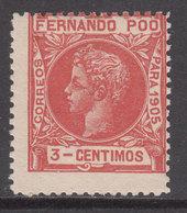 Fernando Poo Sueltos 1905 Edifil 138 * Mh - Fernando Po