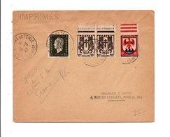 AFFRANCHISSEMENT COMPOSE SUR LETTRE DE SAINT BREMAS DE TENDE ALPES MARITIMES 1947 - Marcophilie (Lettres)