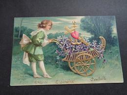 Enfant ( 4220 )   Kind  Carte Gaufrée   Reliëf - Enfants