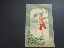 Enfant ( 4222 )   Kind  Carte Gaufrée   Reliëf  Patinage  Patiner  Schaatsen - Enfants