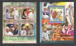 ST904 2016 GUINE GUINEA-BISSAU POPE FRANCIS 1KB+1BL MNH - Popes