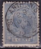 Superbe Kleinrondstempel St. ANTHONIS (1068) Op 1891-94 Prinses Wilhelmina 5 Ct Blauw NVPH 35 - Poststempel