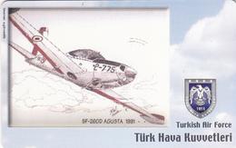 TURKEY - SF-260D Agusta 1991 (Aircraft) , Tirage 200,000 , 50 Unit ,used - Turquie