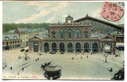 CPA - Carte Postale - France - Lille - La Gare - 1905 ( I10717) - Lille