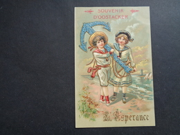 Enfants ( 4228 )   Enfant  Kinderen   Kind  Carte Gaufrée   Reliëf    Souvenir D' Oostacker ( Oostakker ) - L' Espérance - Enfants