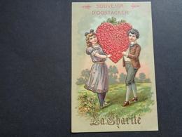 Enfants ( 4229 )   Enfant  Kinderen   Kind  Carte Gaufrée   Reliëf    Souvenir D' Oostacker ( Oostakker )  - La Charité - Enfants