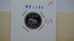 Tuva Region 7 Coins Set UNC Animals - Russia