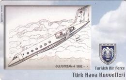 TURKEY - Gulfstream-4 1992 (Aircraft) , Tirage 200,000 , 100 Unit ,used - Türkei
