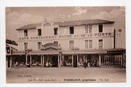 - CPA LA BAULE (44) - CAFÉ RESTAURANT RICHE ET DE LA POSTE - PASDELOUP, Propriétaire - Photo Labière - - La Baule-Escoublac