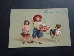 Enfants ( 4244 )   Enfant  Kinderen   Kind  Carte Gaufrée   Reliëf - Enfants
