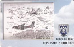 TURKEY - CN-235 CASA 1992 (Aircraft) , Tirage 200,000 , 50 Unit ,used - Turquie