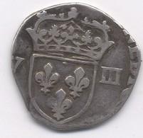 HENRI IV  1/8  écu à La Croix Feuillue - DATE ET ATELIER NON VISIBLE - 987-1789 Monnaies Royales