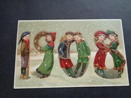 Enfants ( 4252 )   Enfant  Kinderen   Kind  Carte Gaufrée   Reliëf    Année  Jaartal  1908 - Enfants
