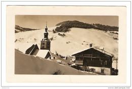 CARTE POSTALE PHOTO MEGEVE LA CHAPELLE DU PLANELLET LE MONT BLANC CHALET - VOEUX 1931 - 2 Scans - - Fotografía