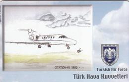 TURKEY - Citation-VII 1993 (Aircraft) , Tirage 200,000 , 50 Unit ,used - Türkei