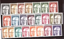 Berlin - 1970/72 - N° 339 à 352 - Neufs ** - Président G.Heinemann - Unused Stamps