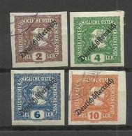 Österreich Austria 1919 Michel 247 - 250 O/* - 1918-1945 1. Republik