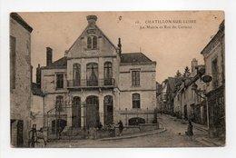 - CPA CHATILLON-SUR-LOIRE (45) - La Mairie Et Rue Du Cormier 1919 - - Chatillon Sur Loire