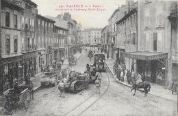 Valence - Chars D'Assaut Ou Tanks Traversant Le Faubourg St Saint-Jacques - Edition Serre - Carte N° 140 Non Circulée - Valence