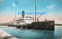 Portul BRAILA 1914, DUNAREA & Bateau, Ship GRUENN, 3 Timbre Carol - Roumanie