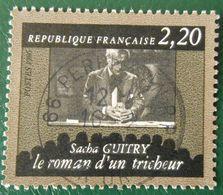 2435 France 1986 Oblitéré Sacha Guitry Le Roman D'un Tricheur - France