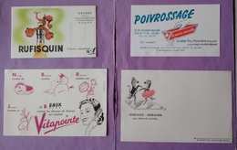 Buvard Lot 8 Buvards   Rufisquin - Poivrossage - Vitapointe - Zebraline - Mazda- - Buvards, Protège-cahiers Illustrés