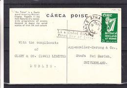 Irlande - Carte PostaleFDC  De 1953 - Oblit Baile Atha Cliath - Exp Vers Stafa - Drapeaux - Musique - Sports - 1949-... Republic Of Ireland