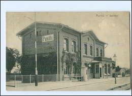 XX007627/ Punitz Poniec Bahnhof Polen Wartheland AK 1919 - Polen