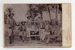 Y14503/ Kabinettfoto Soldaten Mit Gewehr  Übersee Kolonien  Ca.1900 - Foto's
