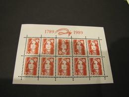 MARIANNE DE BRIAT - BLOC DENTELE DU FAUX D'ESPAGNE - 1989-96 Marianne (Zweihunderjahrfeier)