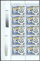 RM038 2004 ROMANIA SPORT FOOTBALL FIFA 100 YEARS MICHEL 22 EURO #5837 10ST MNH - Voetbal