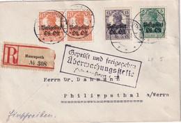 OSTLAND 1918 LETTRE RECOMMANDEE CENSUREE  DE HASENPOTH/AIZPUTE AVEC CACHET ARRIVEE  PHILIPPSTHAL - Occupation 1914-18