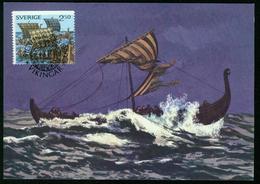 Mk Sweden Maximum Card 1990 MiNr 1593   Vikings - Cartes-maximum (CM)