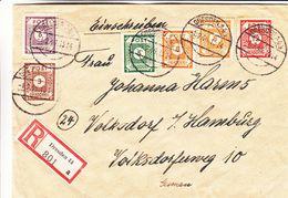 Allemagne - Occupation Alliés - Lettre Recom De 1946 - Oblit Dresden - Exp Vers Hamburg - - Zone Soviétique