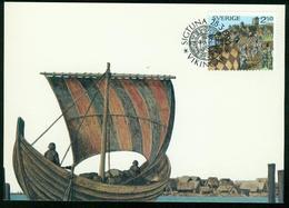 Mk Sweden Maximum Card 1990 MiNr 1594   Vikings - Cartes-maximum (CM)
