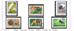URSS - SG  3608.3613 - 1968  WILDLIFE  RESERVATIONS: ANIMALS   (COMPLET SET OF 6)    -  USED°  - RIF. CP - 1923-1991 USSR