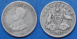AUSTRALIA - Silver 3 Pence 1912 KM# 24 George V (1910-1936) - Edelweiss Coins - Non Classificati