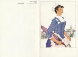 6 Cartes. Costumes Suisses. Aquarelles De Kurth Wirth. Swissair. Ticino. Baselland. Entlebuch. Valais. Vaud. Graubünden. - Pittura & Quadri