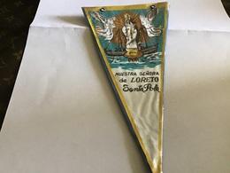 Écusson Fanion En Plastique   Blason Tissus Nuestra Senora De Loreto Santa Pola   Espagne - Ecussons Tissu
